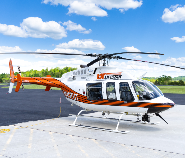 UT LIFESTAR aircraft that calls Colonel Tommy C Stiner Airport in Campbell County TN home