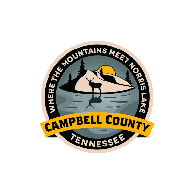 campbell county tennessee's logo on a transparent background